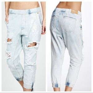 NEW ONE Teaspoon Dundees Slouchy Destroyed Denim